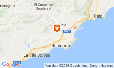 Mapa Benidorm Casa 97261