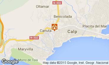 Mapa Calpe Bungalow 29412