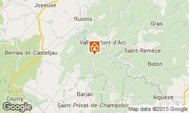 Mapa Vallon-Pont-D'Arc Villa 23758