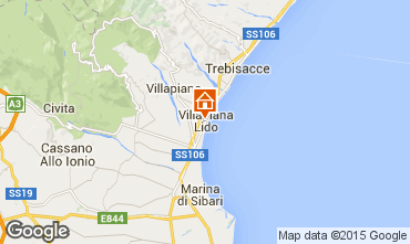 Mapa Villapiana Apartamento 71359