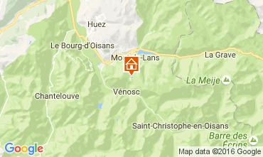 Mapa Les 2 Alpes Estudio 101599