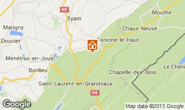 Mapa Fort-du-Plasne Casa rural 75051