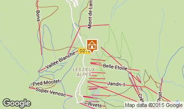 Mapa Les 2 Alpes Chalet 91812