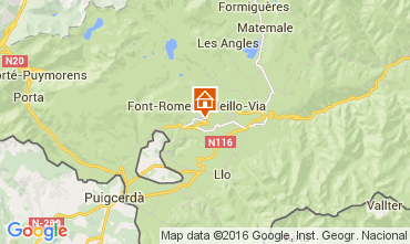 Mapa Font Romeu Apartamento 104133