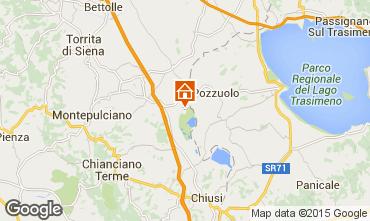 Mapa Montepulciano habitaci�n de hu�spedes 94830