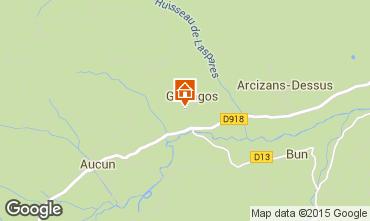 Mapa Val d'Azun Casa rural 27762
