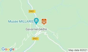 Mapa Gavarnie Gèdre Casa rural 65880