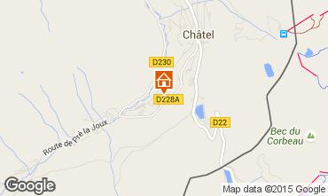 Mapa Châtel Chalet 44057