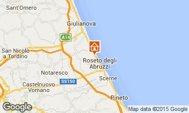 Mapa Roseto degli Abruzzi Apartamento 48897