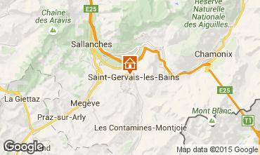 Mapa Saint Gervais Mont-Blanc Apartamento 2553