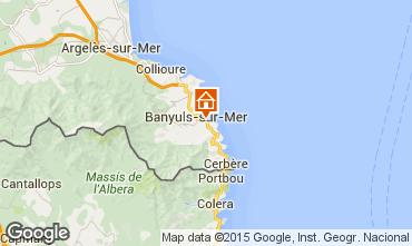 Mapa Banyuls-sur-Mer Apartamento 87545