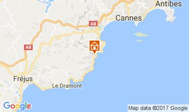 Mapa Théoule sur Mer Apartamento 107934