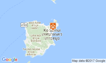 Mapa Bo Phut beach Villa 110496