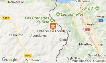 Mapa La Chapelle d'Abondance Apartamento 115949