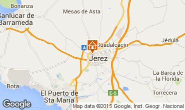 Mapa Jerez de la Frontera habitaci�n de hu�spedes 95535