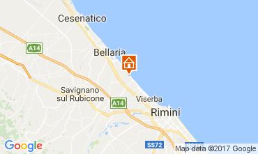 Mapa Bellaria Igea Marina habitación de huéspedes 109717
