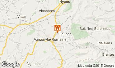Mapa Vaison la Romaine Apartamento 30217