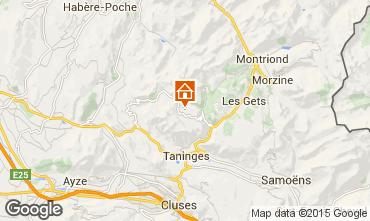 Mapa Praz de Lys Sommand Chalet 101067