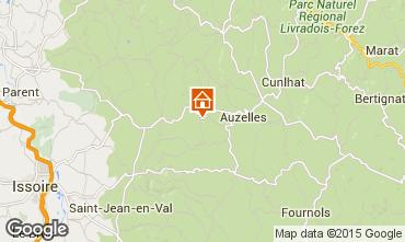 Mapa Issoire Casa rural 100233