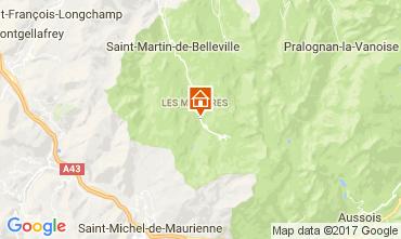 Mapa Les Menuires Chalet 101006