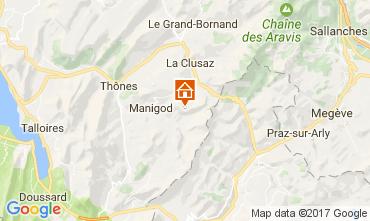Mapa Manigod-Croix Fry/L'étale-Merdassier Apartamento 82225
