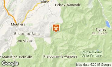 Mapa Champagny en Vanoise Apartamento 588