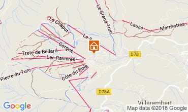 Mapa La Toussuire Chalet 52378