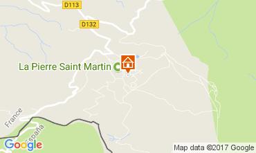 Mapa Arette La Pierre Saint Martin Apartamento 66669