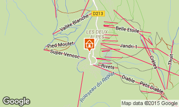 Mapa Les 2 Alpes Apartamento 63728