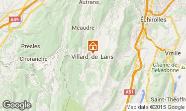 Mapa Villard de Lans - Corrençon en Vercors Apartamento 32977