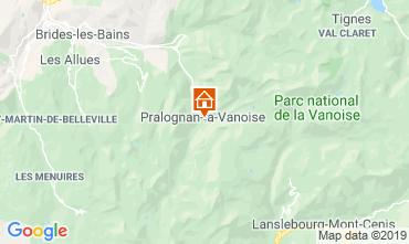 Mapa Pralognan la Vanoise Apartamento 2280