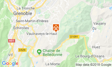 Mapa Chamrousse Apartamento 116984