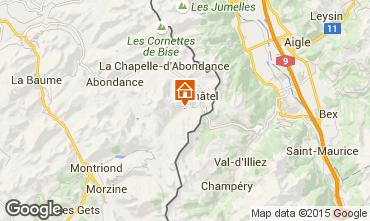 Mapa Ch�tel Chalet 74094