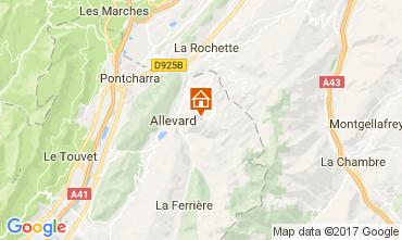 Mapa Le Collet d'Allevard Apartamento 112005