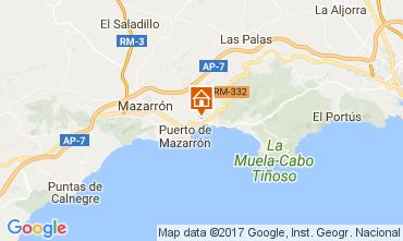 Mapa Puerto de Mazarrón Apartamento 112636