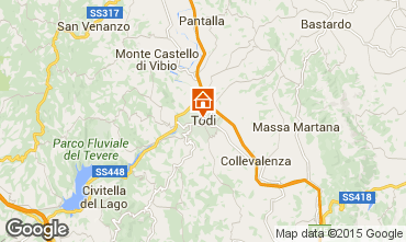 Mapa Todi Villa 97129