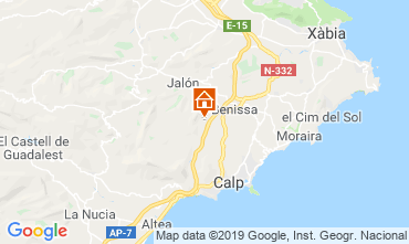 Mapa Calpe Casa 116425