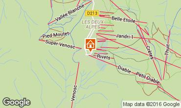 Mapa Les 2 Alpes Apartamento 73704