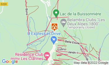 Mapa Les 2 Alpes Apartamento 106612