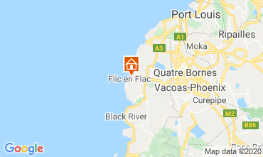 Mapa Flic-en-Flac Bungalow 17097