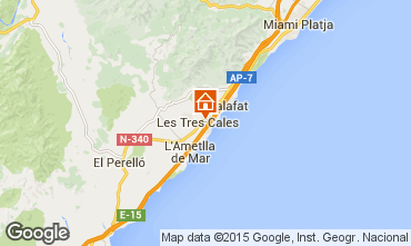 Mapa La Ametlla de Mar Villa 39360