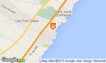 Mapa La Ametlla de Mar Villa 59751