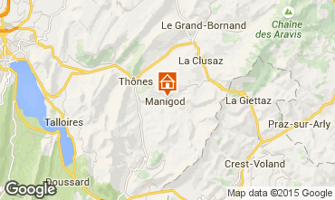Mapa Manigod-Croix Fry/L'étale-Merdassier Chalet 101553