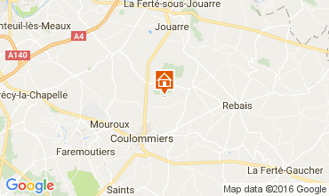 Mapa Marne la Vallée Casa rural 107157