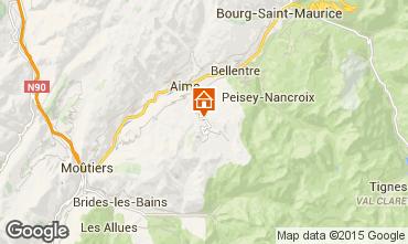 Mapa La Plagne Chalet 2148