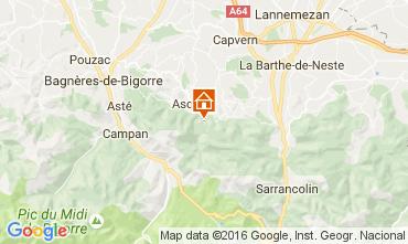 Mapa Bagn�res de Bigorre Casa rural 76174
