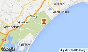 Mapa Saint Pierre la Mer Villa 101272
