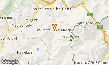 Mapa Les Contamines Montjoie Apartamento 18006