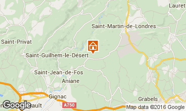 Mapa Montpellier Alojamiento insólito 9218