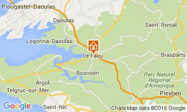 Mapa Le Faou Casa rural 102663
